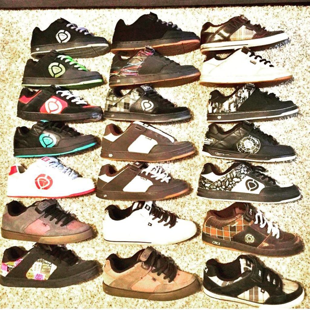 @justanothershoecollector collection of 205s. #circa #circafootwear #cx205 #jamiethomas #jt205 #sk8shoewars #skateshoewars #skateshoes #thrasher #theberrics #transworld #skateboarding #skateboardmag #igsneakerheadcommunity #skatelife ------------------- Tag #ChompOnKicks in your pics for a chance to get featured.  Hit us also on Facebook.com/ChompOnKicks